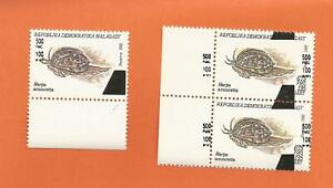 MADAGASCAR  MADAGASKAR MALAGASY COQUILLAGE surcharge overprint SHELL
