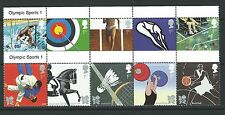 GREAT BRITAIN 2009 OLYMPIC GAMES 2012 WITH TITLES UNMOUNTED MINT, MNH