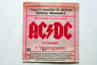AC/DC JUDAS PRIEST HAMBURG 23 NOV 1979 HIGHWAY TO HELL TOURRARE TICKET BON SCOTT