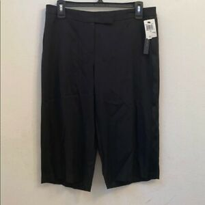 NWT $285 David meister black cropped pants