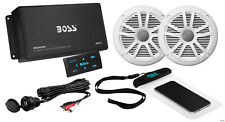 BOSS Audio Systems ASK902B.6 Marine 500 Watt 4 Channel Amplifier / 6.5 Inch Spea
