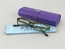 BEVEL Eyeglasses Frames mod. 3589 Check BM Tortoise Brown Cat Eye Slim Rx