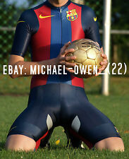 Original Nike FC Barcelona Aero-Zeitfahranzug Einteiler Skinsuit Gr. S - NEU
