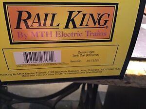 Rail King by MTH Coors Light Tank Car Chrome 30-73223
