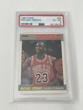 1987 Fleer Michael Jordan #59 PSA 6 Card EX MINT Second Year Basketball