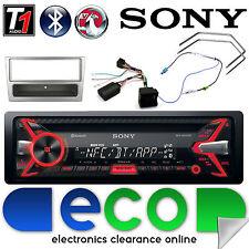 Vauxhall Astra H Sony Cd MP3 Bluetooth Estéreo De Coche Plata Fascia & Kit De Dirección