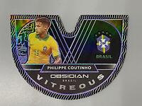 Philippe Coutinho 2020-21 Panini Obsidian ⚽️ /60 Purple Vitreous #3 Brazil 🇧🇷
