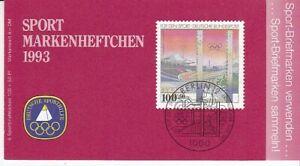 Bund  Markenheftchen für den Sport  1993   Olympiastadion Berlin  **