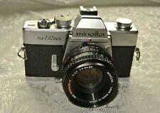 Minolta SRT 201 SLR 35mm Camera with 50MM F1;7 MD PF Rokkor X Lens Tested  9/10
