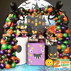 Halloween Balloon Garland Arch Kit 227pcs with Halloween Spider Web and Bat,Mapl