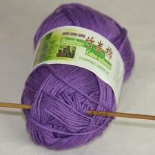 Sale New 1Skeinx50g Soft Baby Natural Smooth Bamboo Cotton Hand Knitting Yarn 22