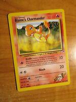 PL (Unlimited) Pokemon BLAINE'S CHARMANDER Card GYM HEROES Set 61/132 PLAYED