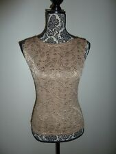 A Byer Size Small Beige Embroidered Cami Tank Top