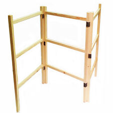 Wooden Clothes Laundry Horse Airer Maiden Dryer Hand Made Wooden Folding Home