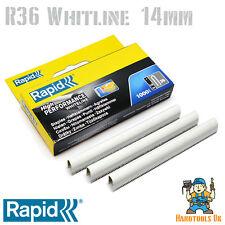 Cable de grapas-rápido R36 Whiteline 14mm (recubierta de blanco) paquete práctico 1000