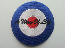 PUNK ROCK HEAVY METAL MUSIC SEW ON / IRON PATCH:- A WAY OF LIFE (a) MOD TARGET