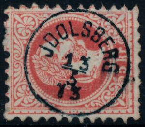 ÖSTERREICH 1867 5kr, Wz! (Groß) SCHWARZ-BLAU STEMPEL JDOLSBERG (Nö) Kl:60P/100P!