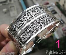 New Tibetan Tibet Silver mixed metal with silver Totem Bangle Cuff Bracelet