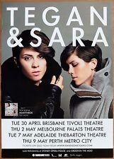 TEGAN & SARA 2013 HEARTTHROB A2 Promo Album TOUR POSTER 59x42cm Australia