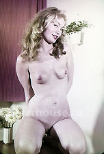 1950's Slim Blonde Original Nude Pin-Up 35mm Film Transparency Slide Photo #2