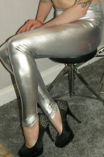 De vuelta en inventario Plata Leggings cintura alta sensación de goma 8 hasta 22
