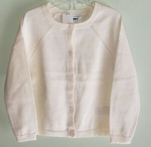 Old Navy Girls 18-24 3T 5T Button Front Crew Neck Cardigan Sweater CREAM #19121