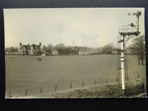Middlewich WIMBOLDSLEY HALL - MINSHULL VERNON RAILWAY c1950s RP Photocard