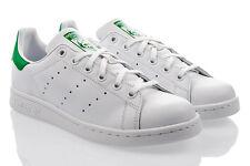 Adidas Originals Stan Smith Youth Blanco/verde cuero entrenadores zapatos 40 EU