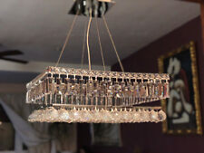 "US BRAND Cascade 12 Light Crystal Ball Prism Chandelier 24"" x 24"" Square Modern"