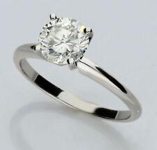 Anillos de joyería con diamantes solitario de oro blanco VVS1