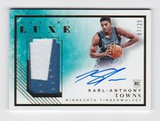 2015/16 PANINI LUXE KARL ANTHONY TOWNS RC ROOKIE AUTO AUTOGRAPH PATCH CARD 7/25