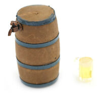 1:12  DOLLHOUSE Mini Furniture Fittings a Beer Barrel and a Glass of Beer B.AU