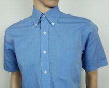 Brooks Brothers Mens camisa azul regular fit Talla 15 pecho 42 S-M nuevo PVP £ 160