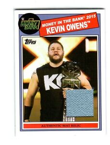 WWE Kevin Owens 2015 Topps Heritage Event Used Money In The Bank Mat Relic Card