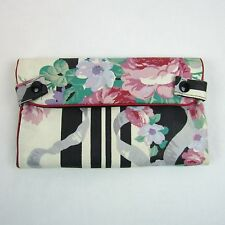 Christian Dior Vintage Toiletry Makeup Travel Folding Bag 4 Compartments Floral