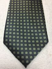 VAN HEUSEN MENS TIE CHARCOAL GRAY WITH GREEN 3.75 X 59 NWOT