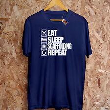 Eat Sleep Échafaudage Répéter T-Shirt Construction Papa Trade Scaffolder Capuche