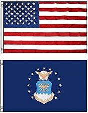3' X 5' 3x5 Air Force Emblem Flag + Usa American Flag Flags Wholesale Lot
