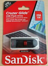 NEW SanDisk 256GB Cruzer GLIDE Flash Drive jump thumb memory stick