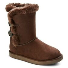 CHEROKEE GIBBY STYLE GIRLS SHOES / BROWN FLEECE SHEARLING BOOTS / YOUTH NWT!
