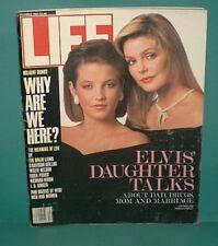 Vintage LIFE MAGAZINE December.1988 PRICILLA and LISA MARIE PRESLEY Non-Smoke