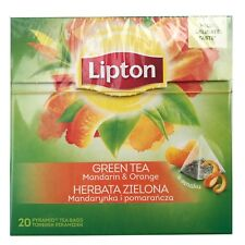 Lipton Green Tea Mandarin & orange favor 20 bags of tea Mild delicate taste