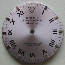 Grey Black Roman 114200 Dial New Genuine Rolex Air-King Watch Part Silver