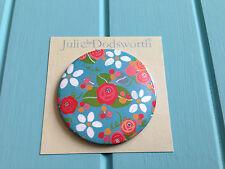 Pretty Flower Handbag Mirror - Julie Dodsworth Round Pocket Make Up - Mum Gift