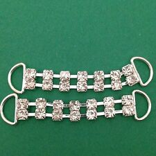 Pair Of Rhinestone Bikini Connectors 42 mm Between Loops #338