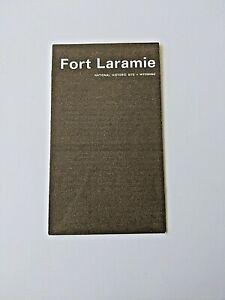 1976 FORT LARAMIE NATIONAL HISTORIC SITE POCKET MAP TOURIST GUIDE BROCHURE