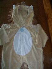 Infant  baby small lion 1 piece hooded zip up costume HALLOWEEN paws mane tail