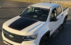 MATTE BLACK - 2015-2020 Chevrolet Colorado HOOD GRAPHIC BLACKOUT