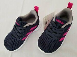 Infants Sz 4K Trace Blue Shock Pink Adidas Lite Racer CLN I Running Shoes BB7053