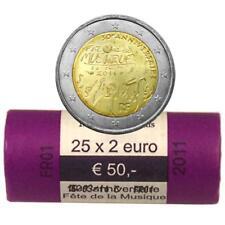 2011 RODILLO FRANCIA 25 MONEDAS 2 EUROS FIESTA DE LA MÚSICA